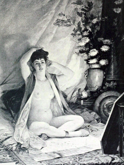 Image of woman in front of mirror