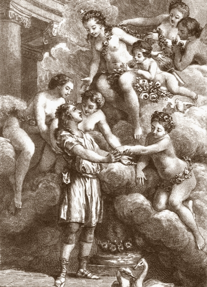 Image of 'Charis greeted by Venus and the Graces'