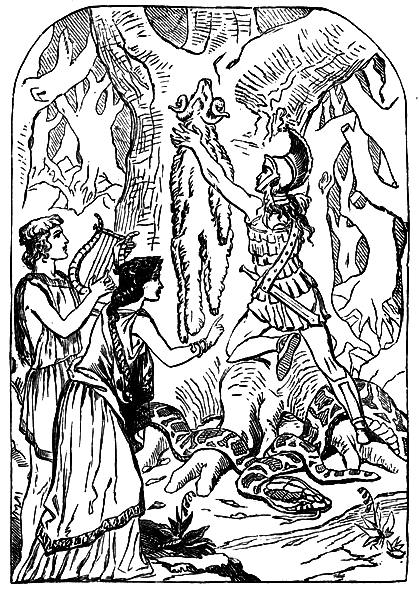 Illustration of Jason and the Golden Fleece